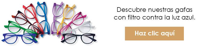 Descubre nuestra colección de gafas con protección contra la luz azul de las pantallas