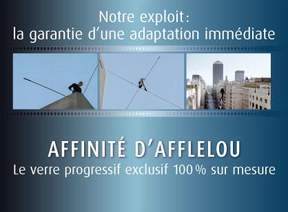 Le verre AFFINITE d AFFLELOU est réalisé sur mesure à partir des données  propres au porteur (écarts et hauteurs pupillaires, galbe de la monture, ... f183f49364bf